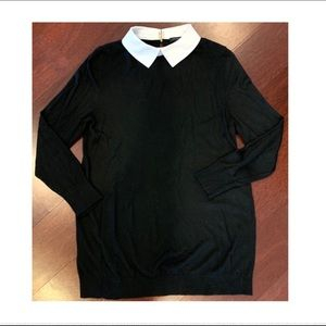 Ann Taylor cotton knit collared sweater